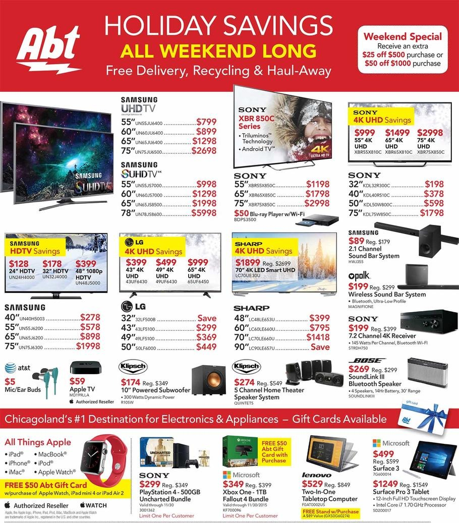 Abt Electronics 2015 Black Friday Ad Page 1