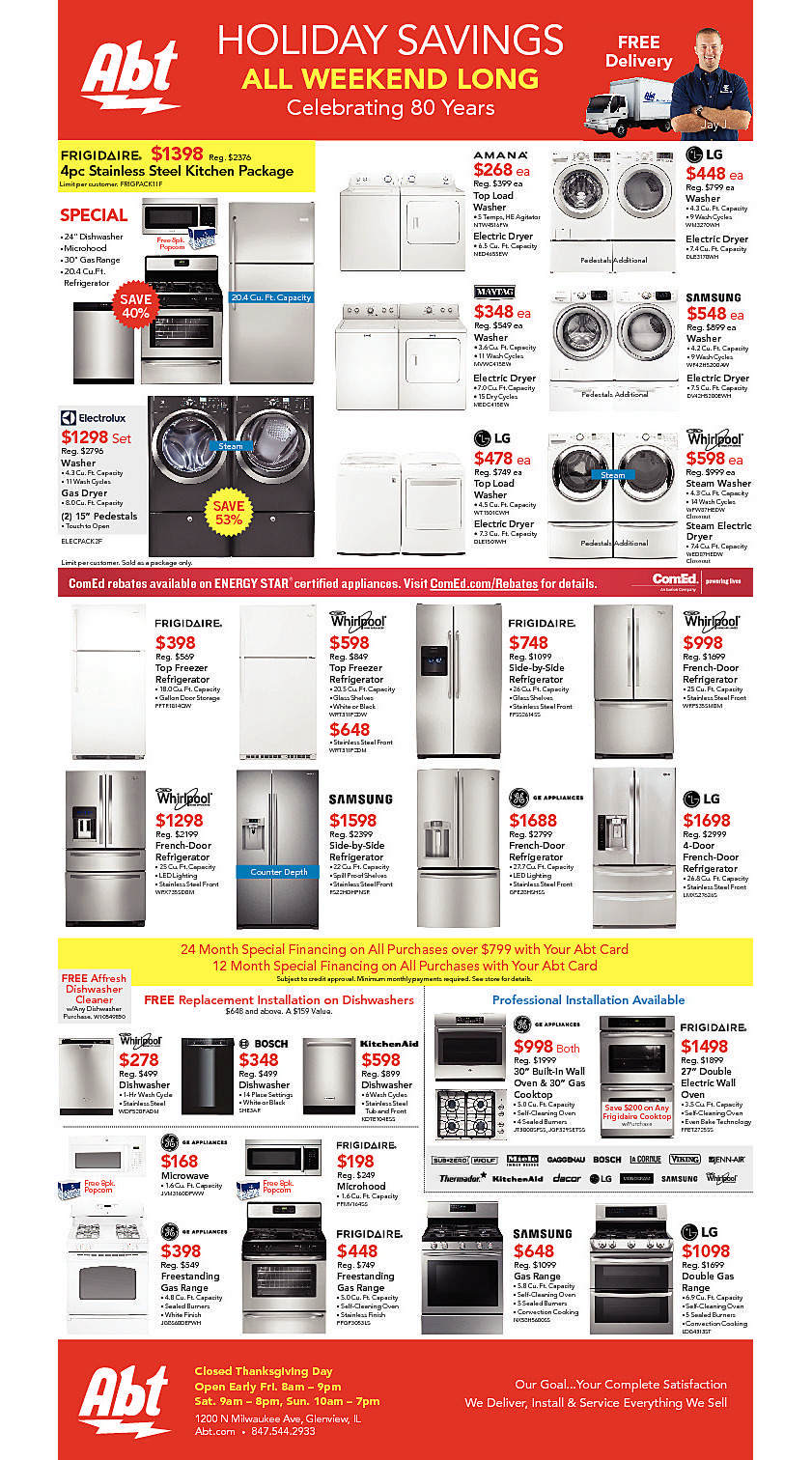 Abt Electronics 2016 Black Friday Ad Page 1