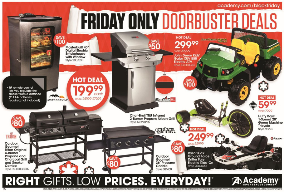 Academy Sports and Outdoors 2015 Black Friday Ad Page 1