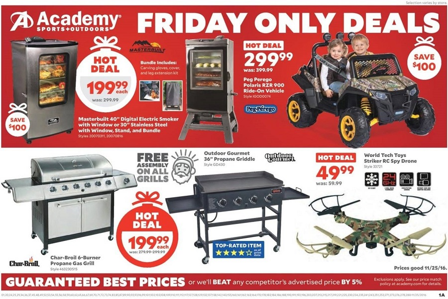 Academy Sports and Outdoors 2016 Black Friday Ad Page 1