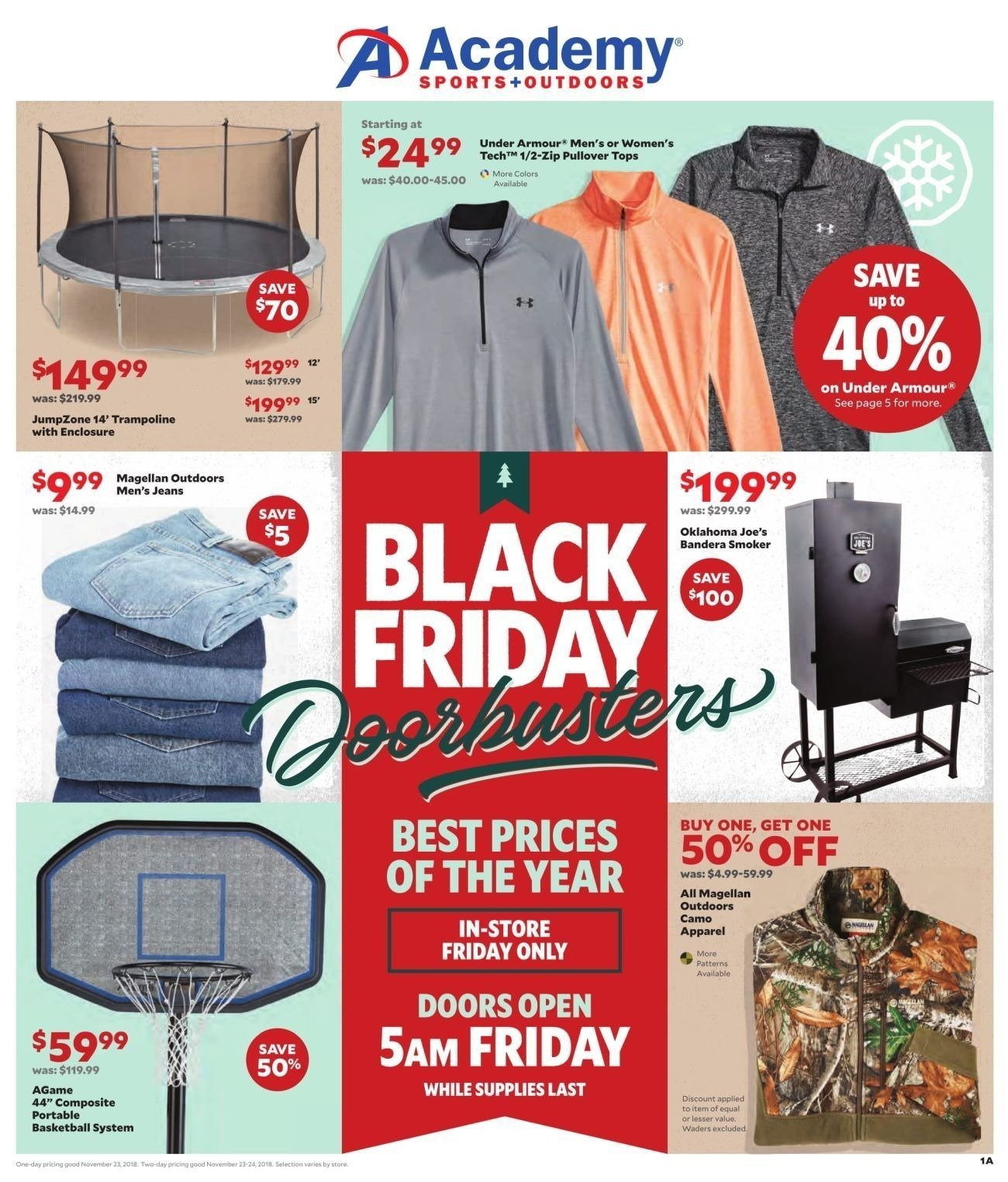 Academy Sports and Outdoors 2018 Black Friday Ad Page 1