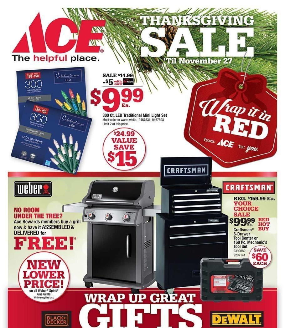 Ace Hardware 2017 Black Friday Ad Page 1