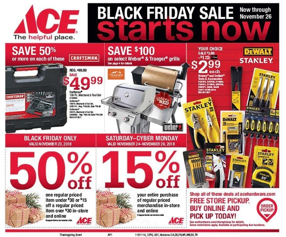 Ace Hardware 2018 Black Friday Ad Page 1