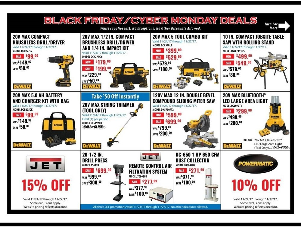 ACME Tools 2017 Black Friday Ad Page 1