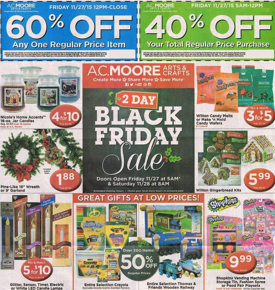 AC Moore 2015 Black Friday Ad Page 1