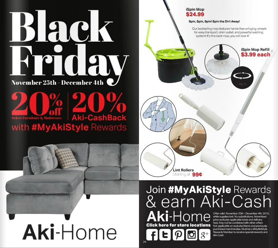 Aki-Home 2016 Black Friday Ad Page 1