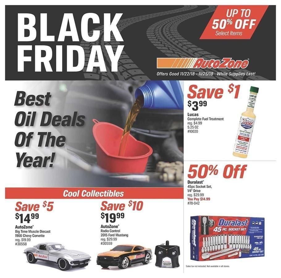 AutoZone 2018 Black Friday Ad Page 1