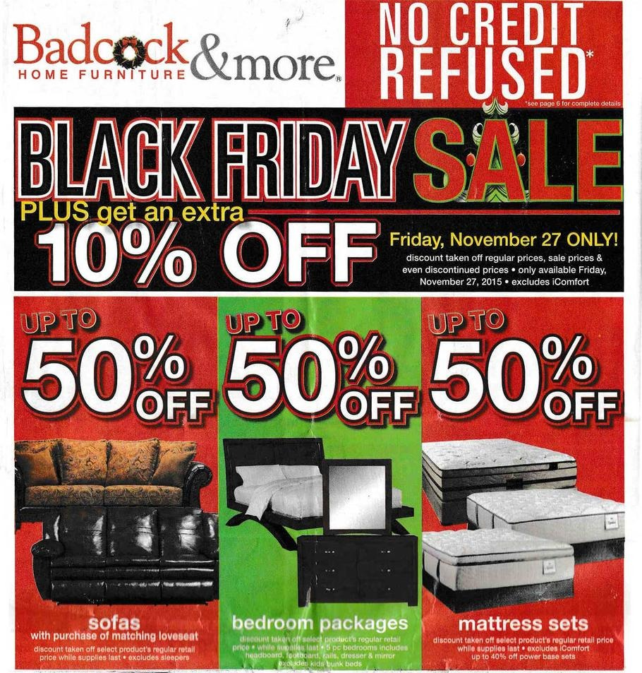 Badcock home furniture more 2015 black friday ad for P s furniture flyer