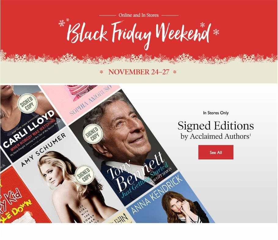 Barnes and Noble 2016 Black Friday Ad Page 1