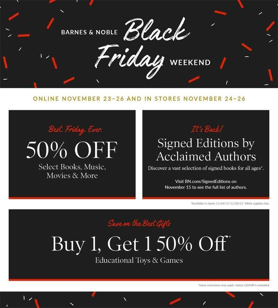 Barnes and Noble 2017 Black Friday Ad Page 1