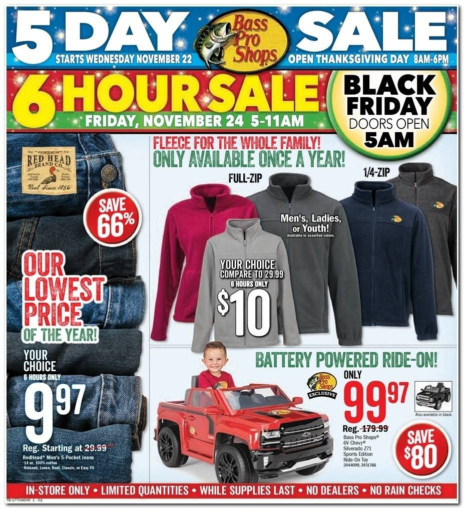 Bass Pro Shops 2017 Black Friday Ad Page 1