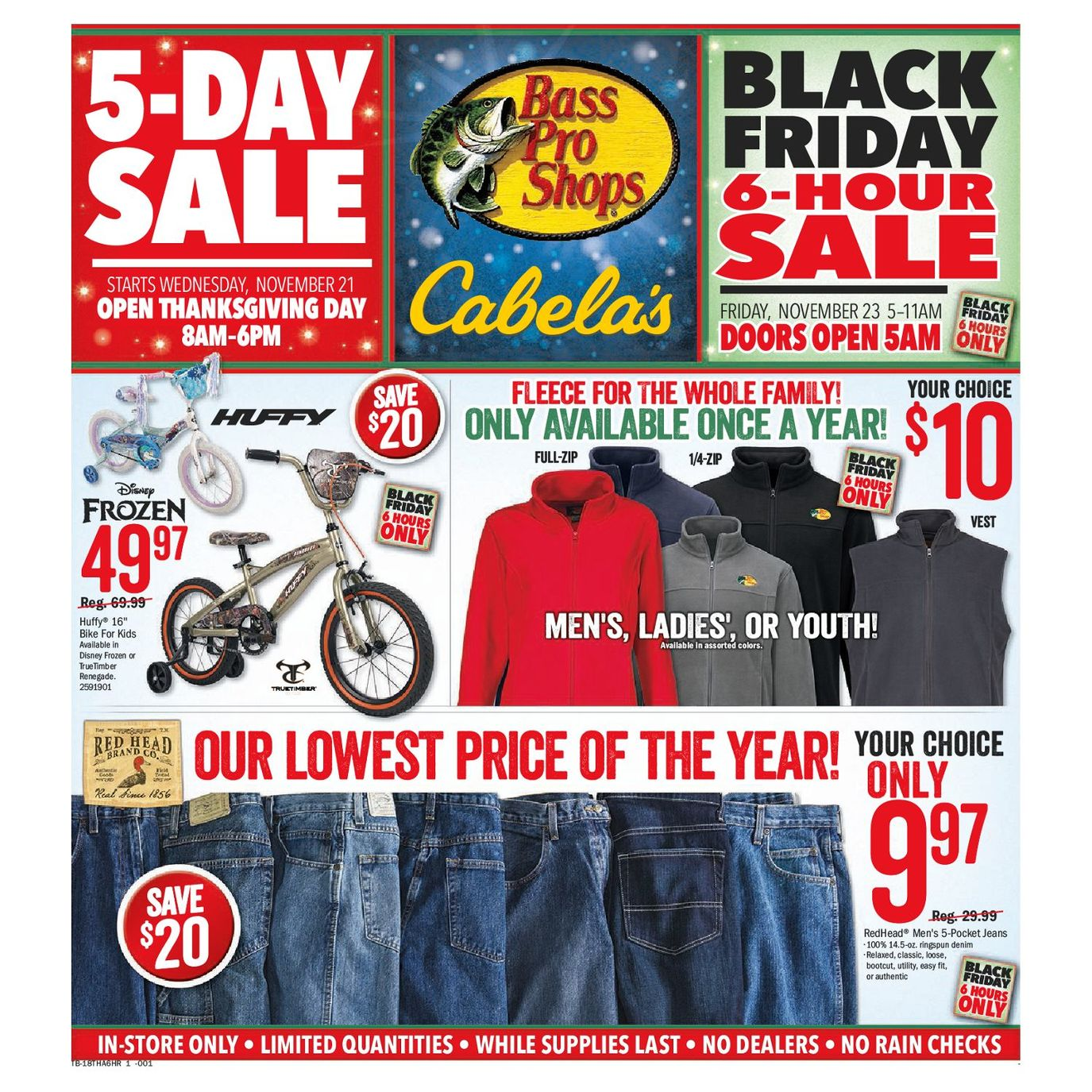 Bass Pro Shops 2018 Black Friday Ad Page 1