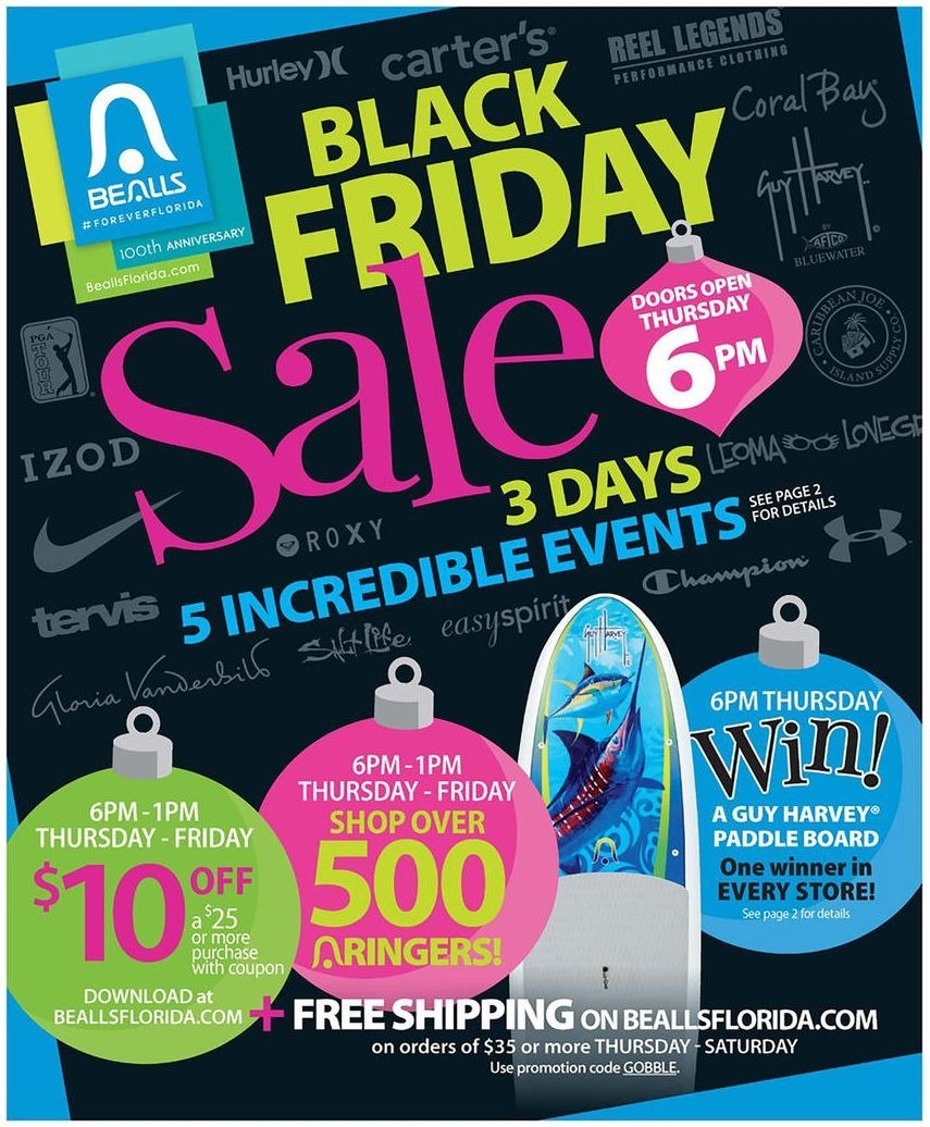 Bealls Department Stores 2015 Black Friday Ad Page 1