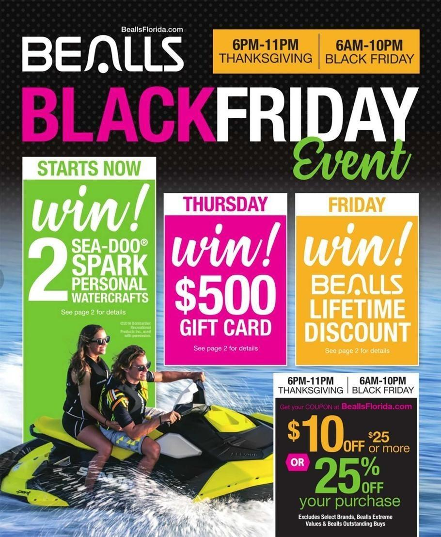 Bealls Department Stores 2017 Black Friday Ad Page 1
