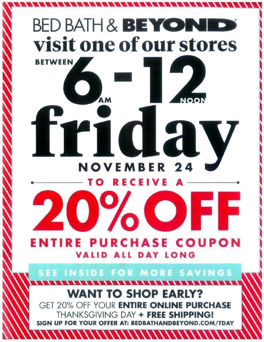 Bed Bath & Beyond 2017 Black Friday Ad Page 1