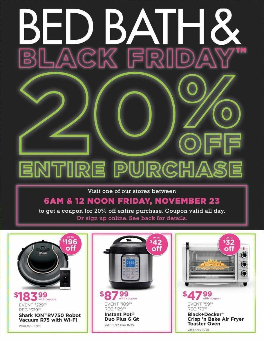 Bed Bath & Beyond 2018 Black Friday Ad Page 1