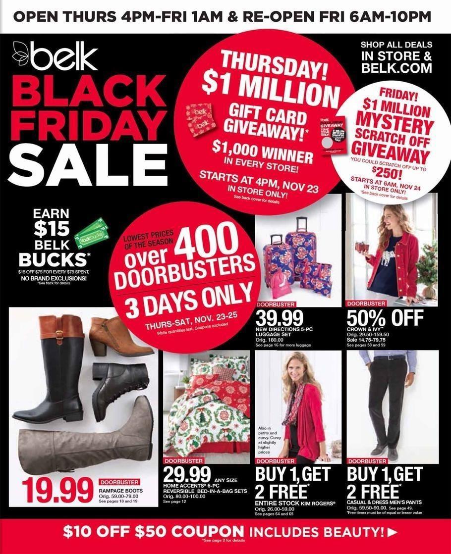 Belk 2017 Black Friday Ad Page 1