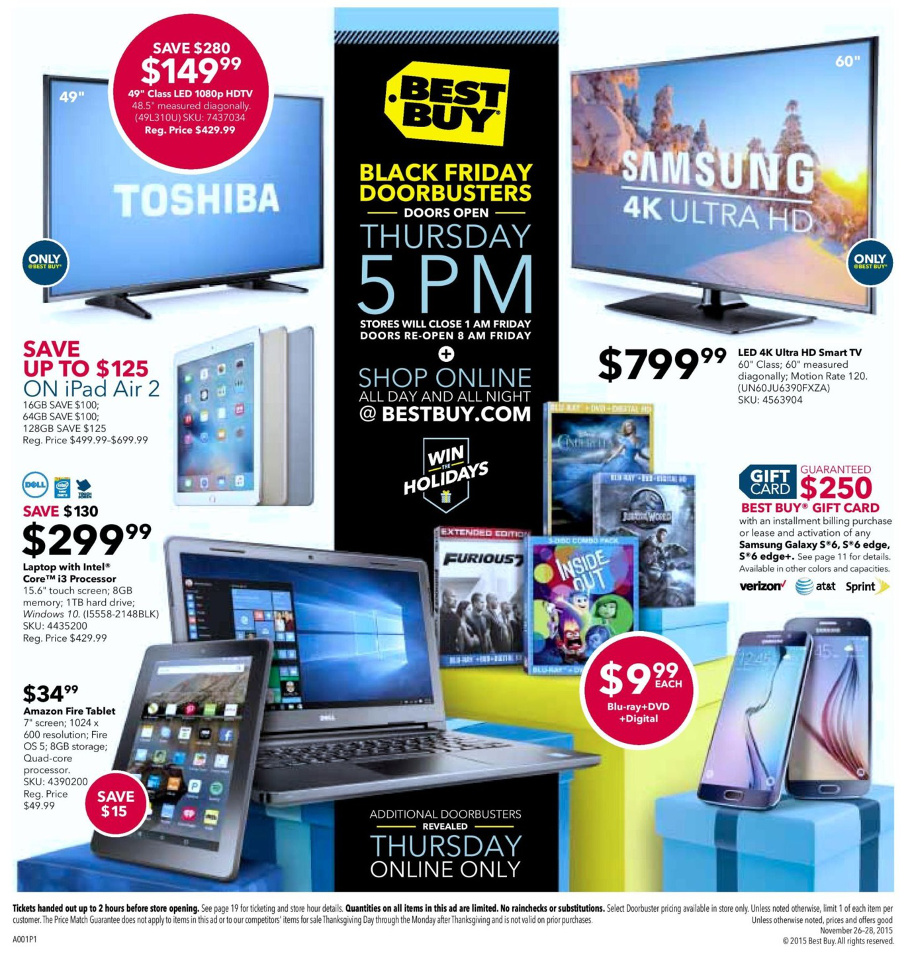 Best Buy 2015 Black Friday Ad Page 1