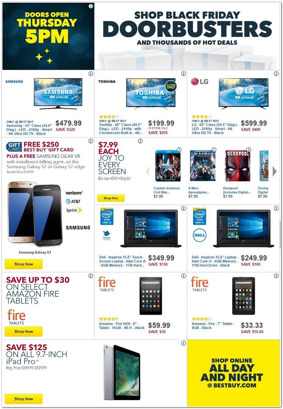 Best Buy 2016 Black Friday Ad Page 1