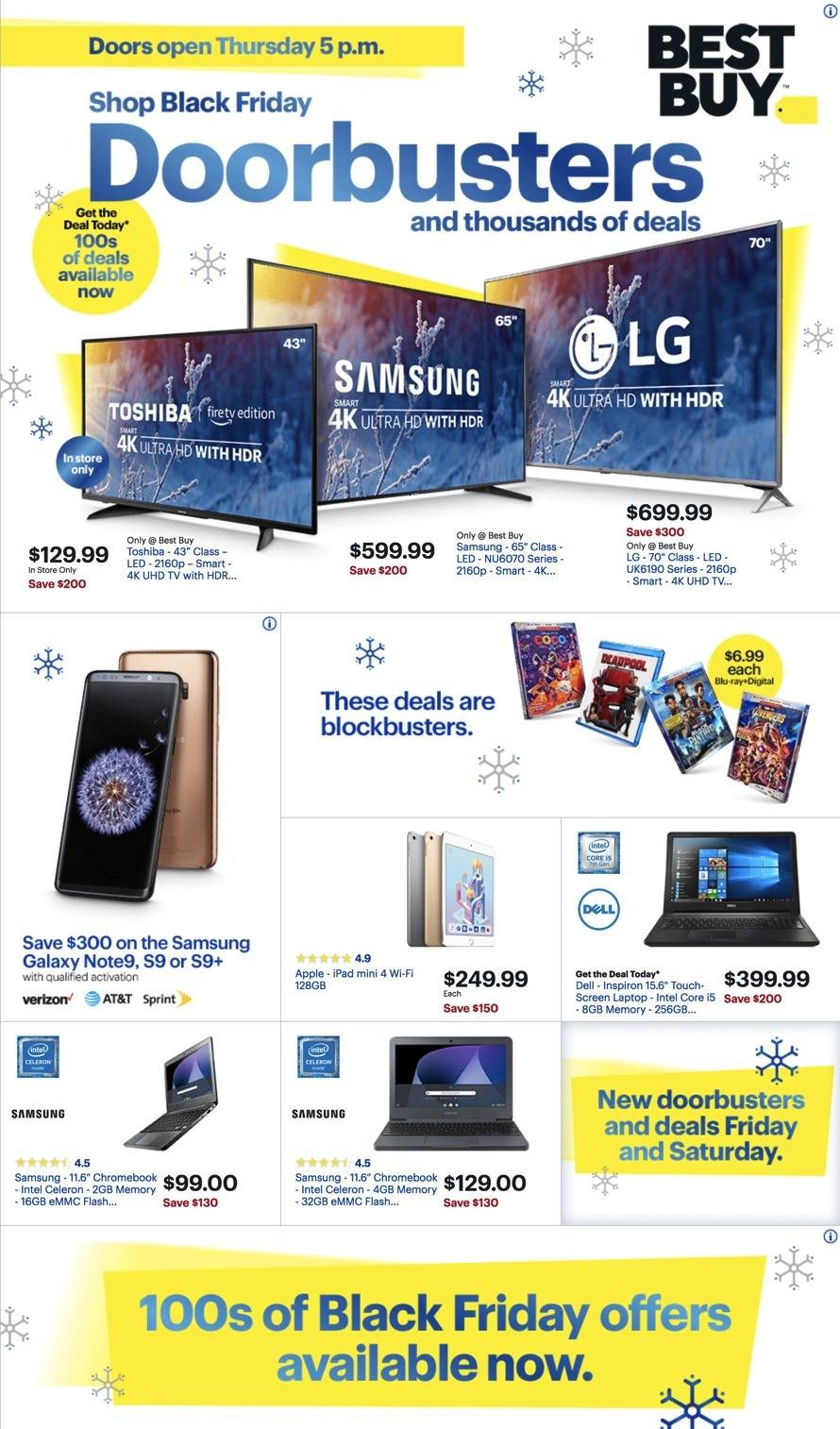 Best Buy 2018 Black Friday Ad Page 1