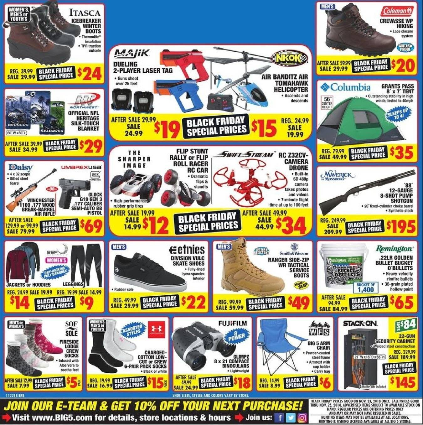 Big 5 Sporting Goods 2018 Black Friday Ad Page 17