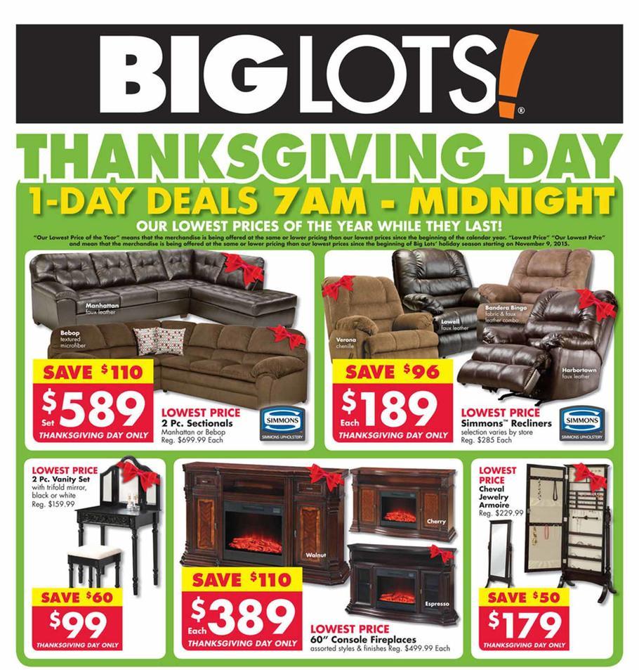 Big Lots 2015 Black Friday Ad Page 1