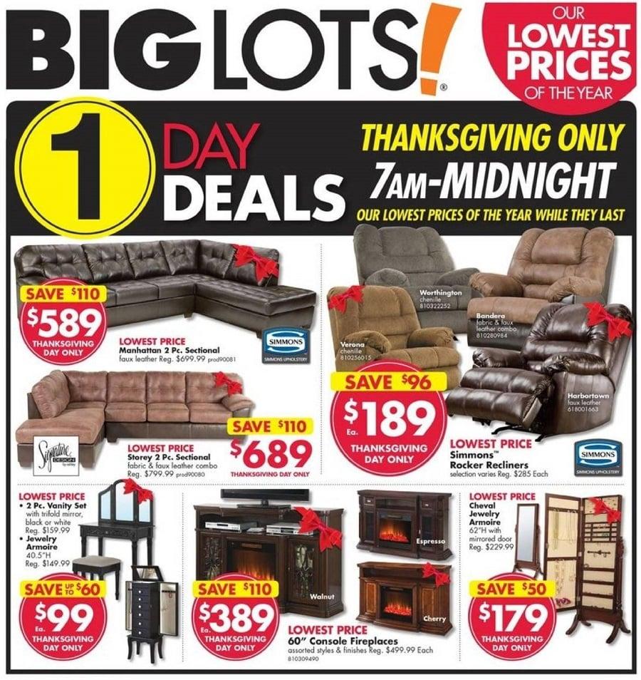 Big Lots 2016 Black Friday Ad Page 1