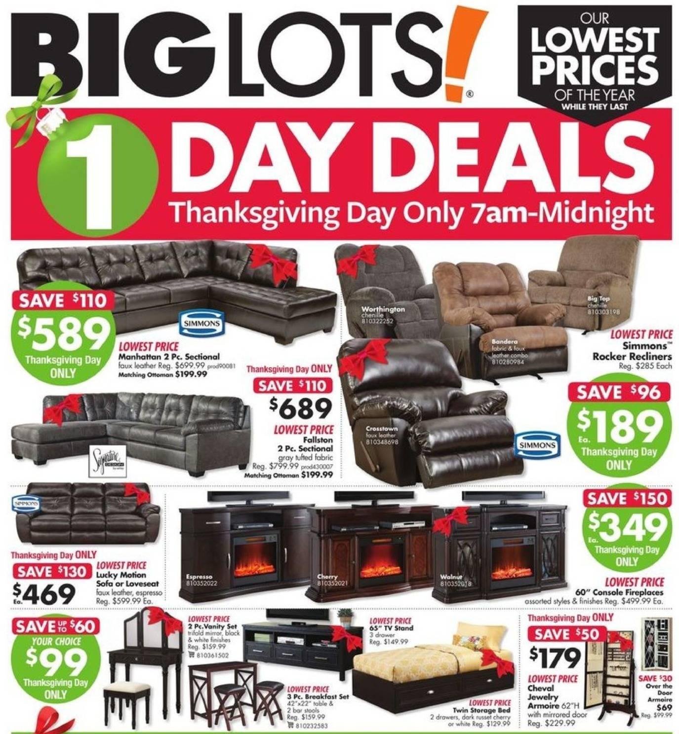 Big Lots 2017 Black Friday Ad Page 1