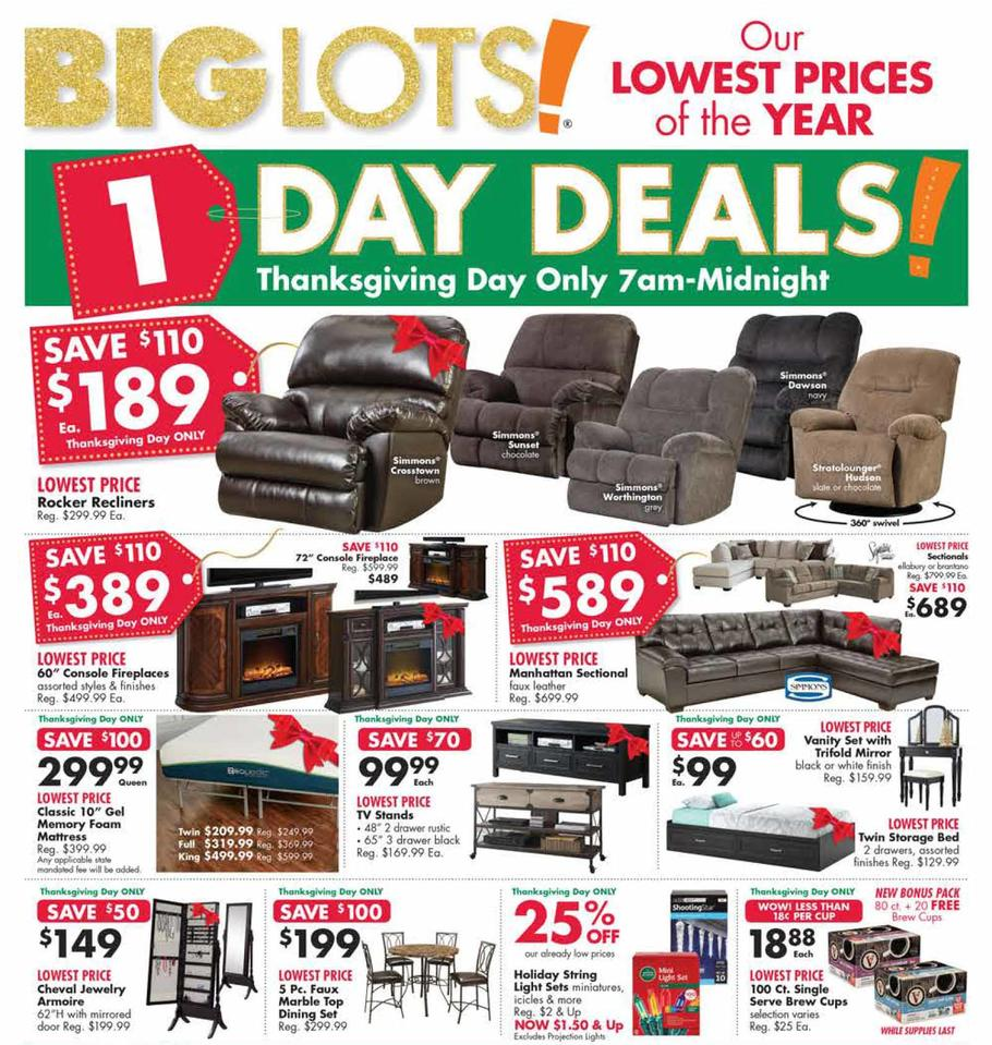 Big Lots 2018 Black Friday Ad