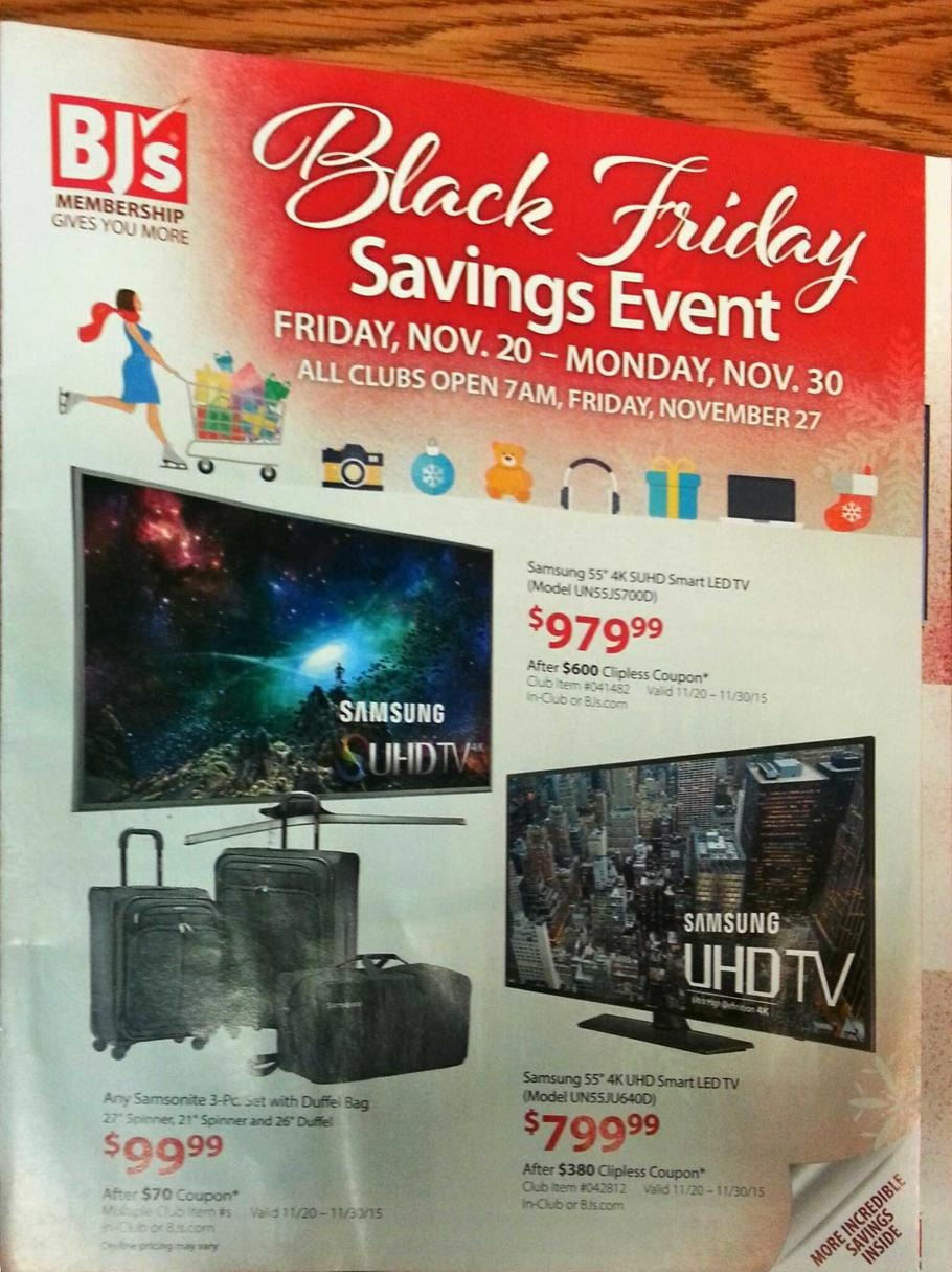 BJ's Wholesale Club 2015 Black Friday Ad Page 1