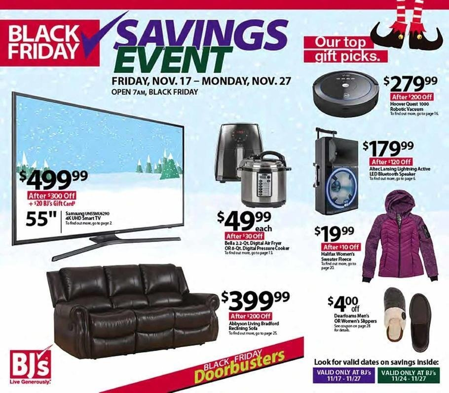 BJ's Wholesale Club 2017 Black Friday Ad Page 1