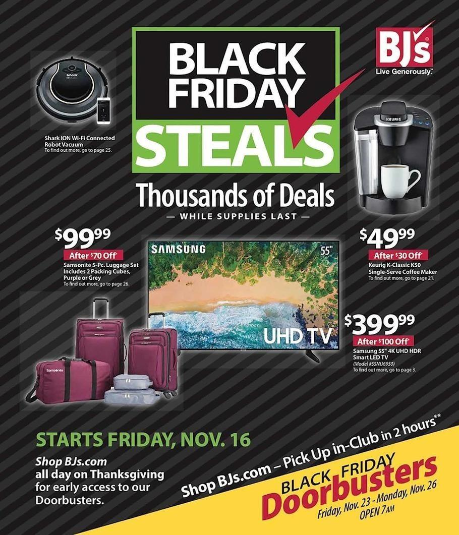 BJ's Wholesale Club 2018 Black Friday Ad Page 1