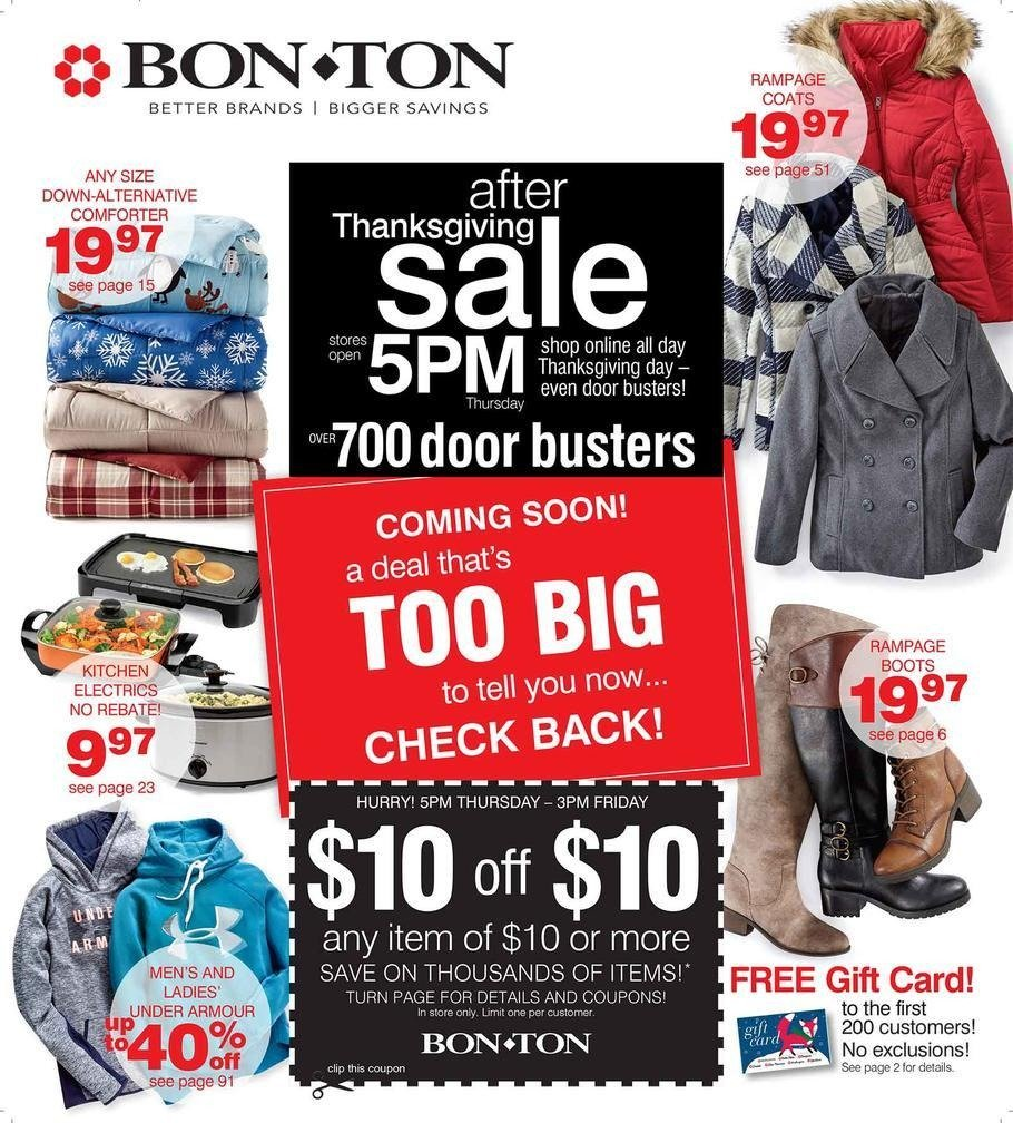 Bon-Ton 2017 Black Friday Ad Page 1