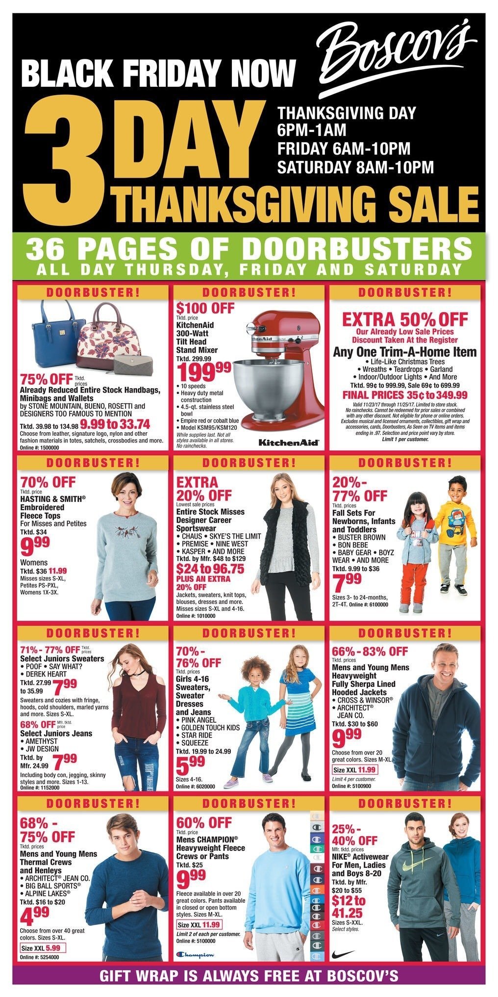 Boscov's 2017 Black Friday Ad Page 1