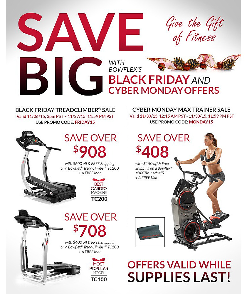 These prices are lower than we saw on Black Friday or Cyber Monday from Bowflex directly. This also includes free delivery AND free assembly which can save you a ton of time so you can start working out immediately. Bowflex TreadClimber TC $ (Orig $) Bowflex TreadClimber TC $ (Orig 5/5(12).