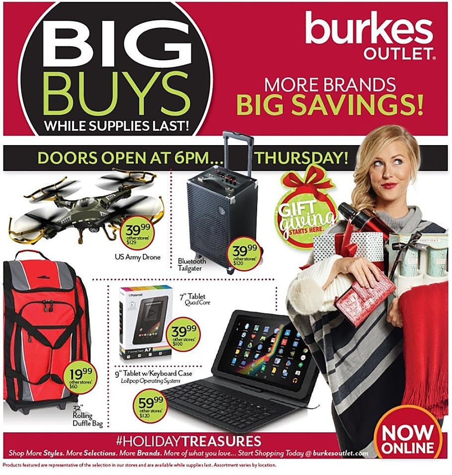 Burkes Outlet 2015 Black Friday Ad Page 1