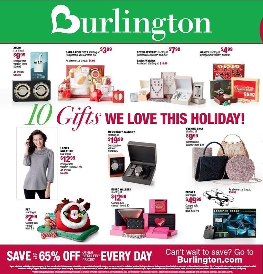 Burlington Coat Factory 2018 Black Friday Ad Page 1