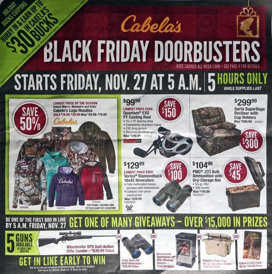 Cabela's 2015 Black Friday Ad Page 1