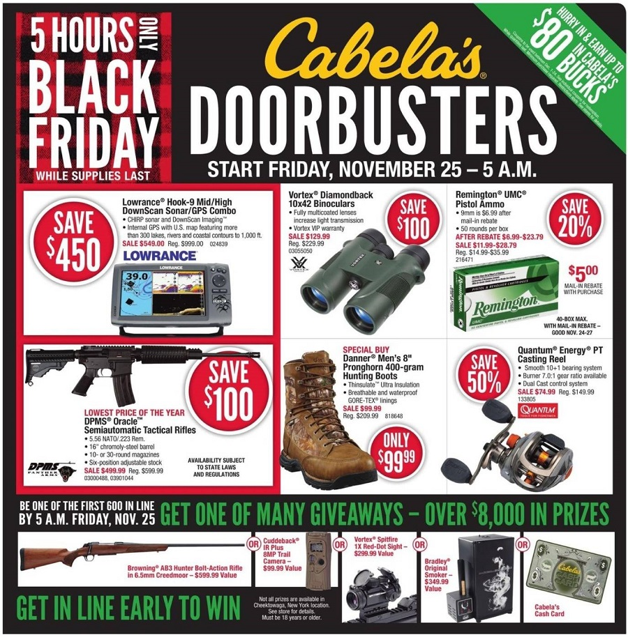 Cabela's 2016 Black Friday Ad Page 1