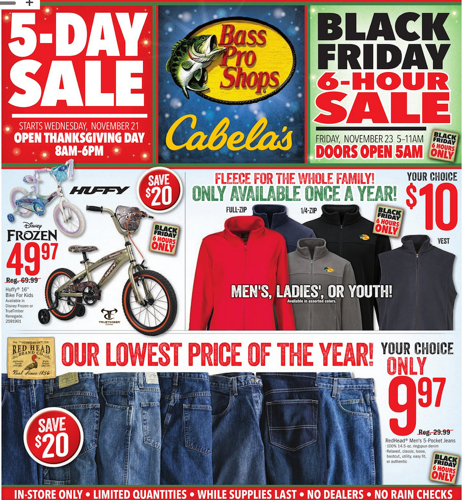 Cabela's 2018 Black Friday Ad Page 1