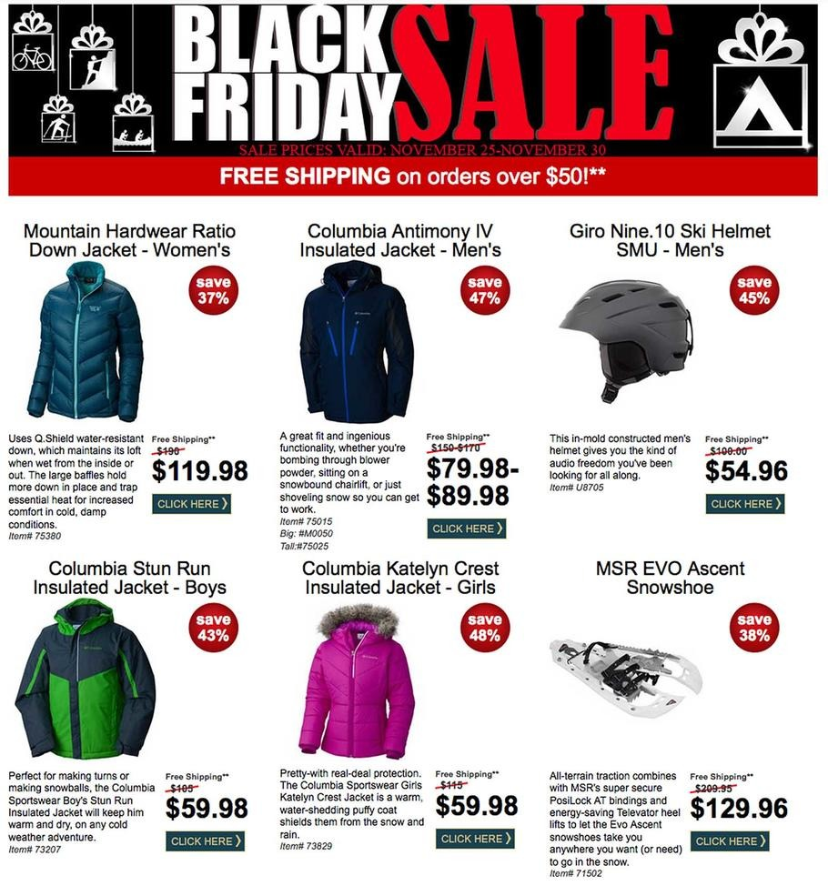 Campmor 2015 Black Friday Ad Page 1