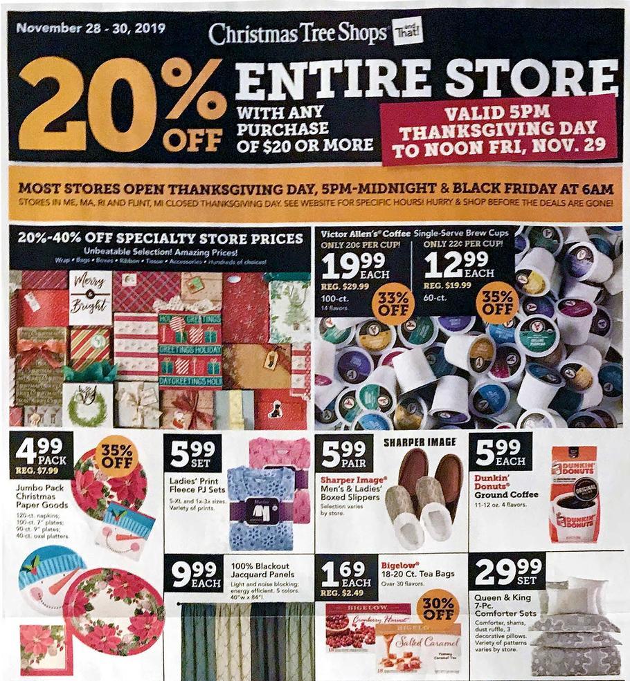 Christmas Tree Shops 2019 Black Friday Ad | Frugal Buzz