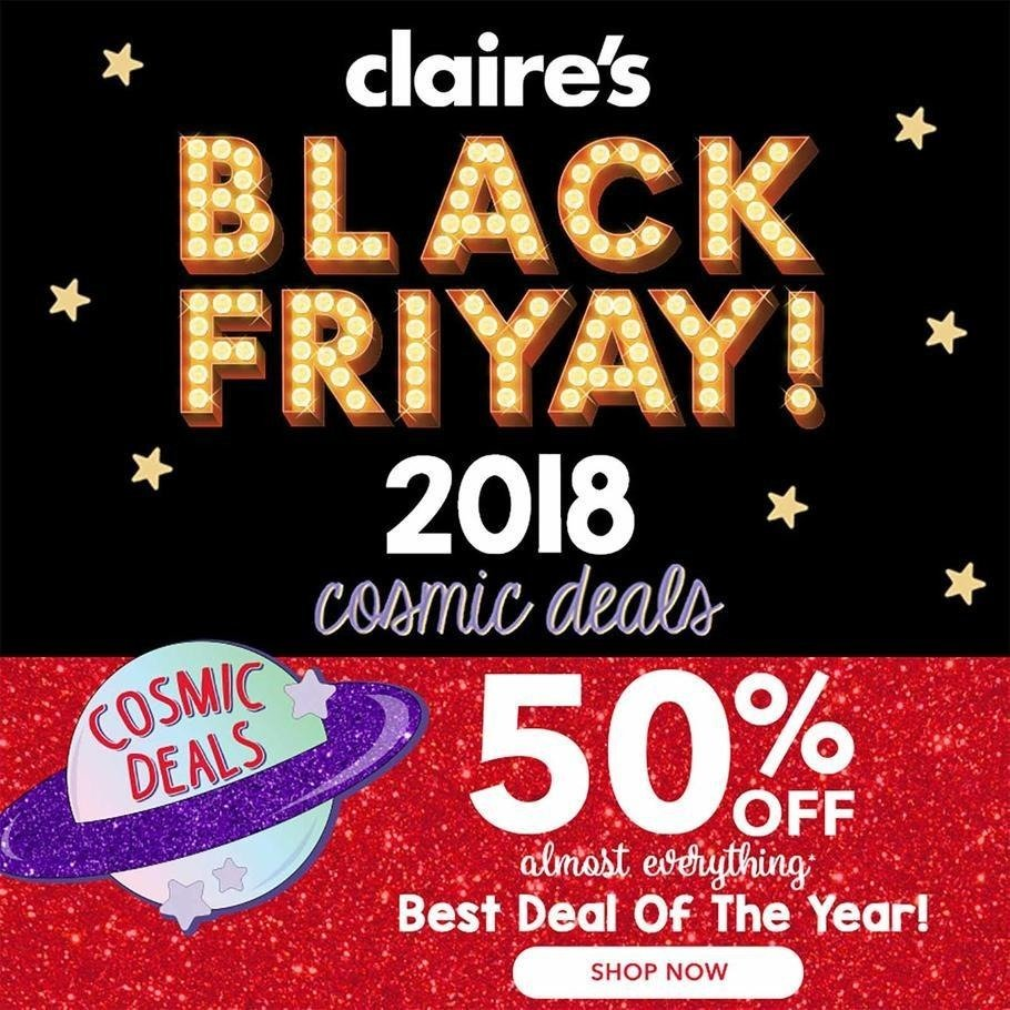 Claire's 2018 Black Friday Ad Page 1