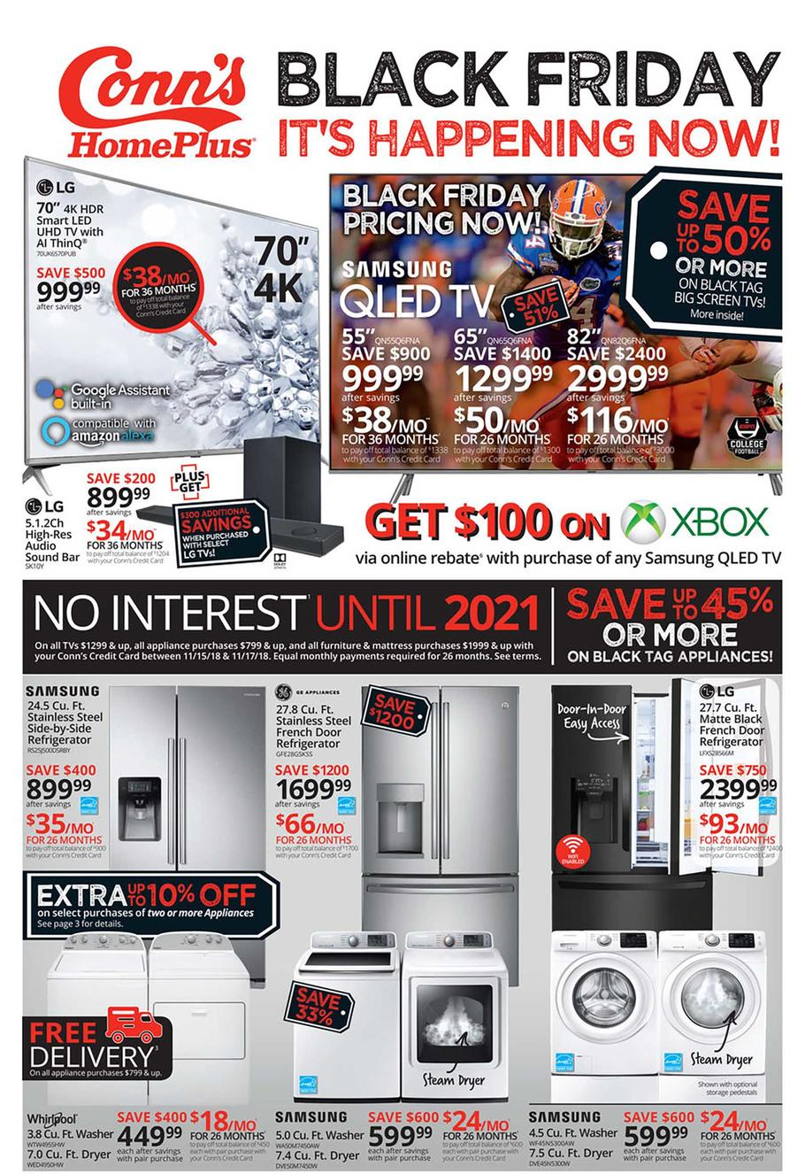 Conn's HomePlus 2018 Black Friday Ad Page 1