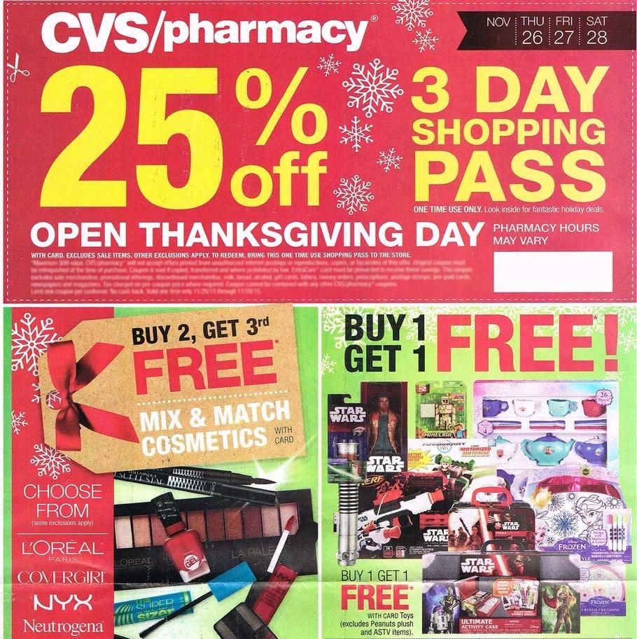 CVS Pharmacy 2015 Black Friday Ad Page 1