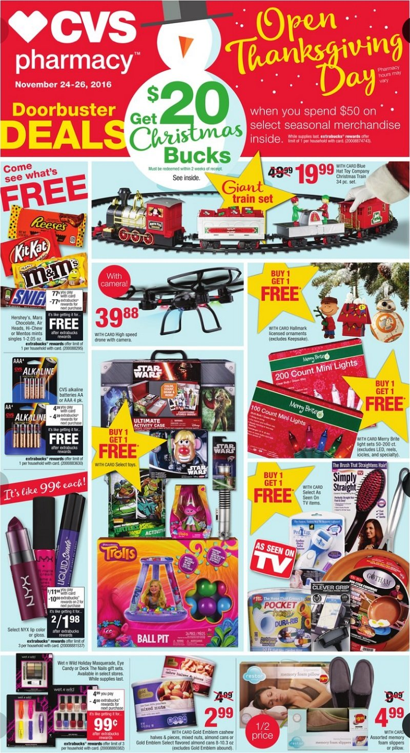 CVS Pharmacy 2016 Black Friday Ad Page 1