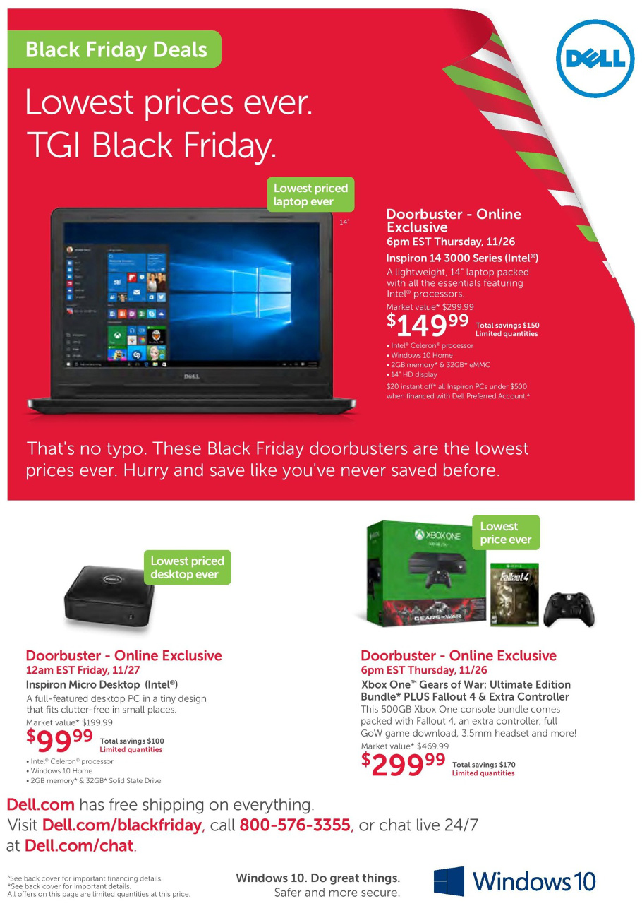 Dell Home Office 2015 Black Friday Ad Page 1