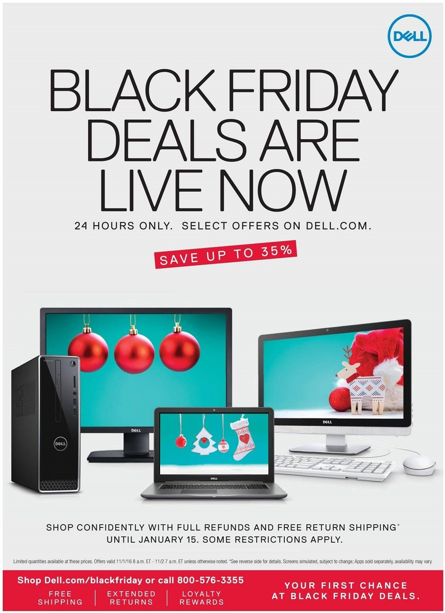 Dell Home Office 2016 Black Friday Ad Page 1