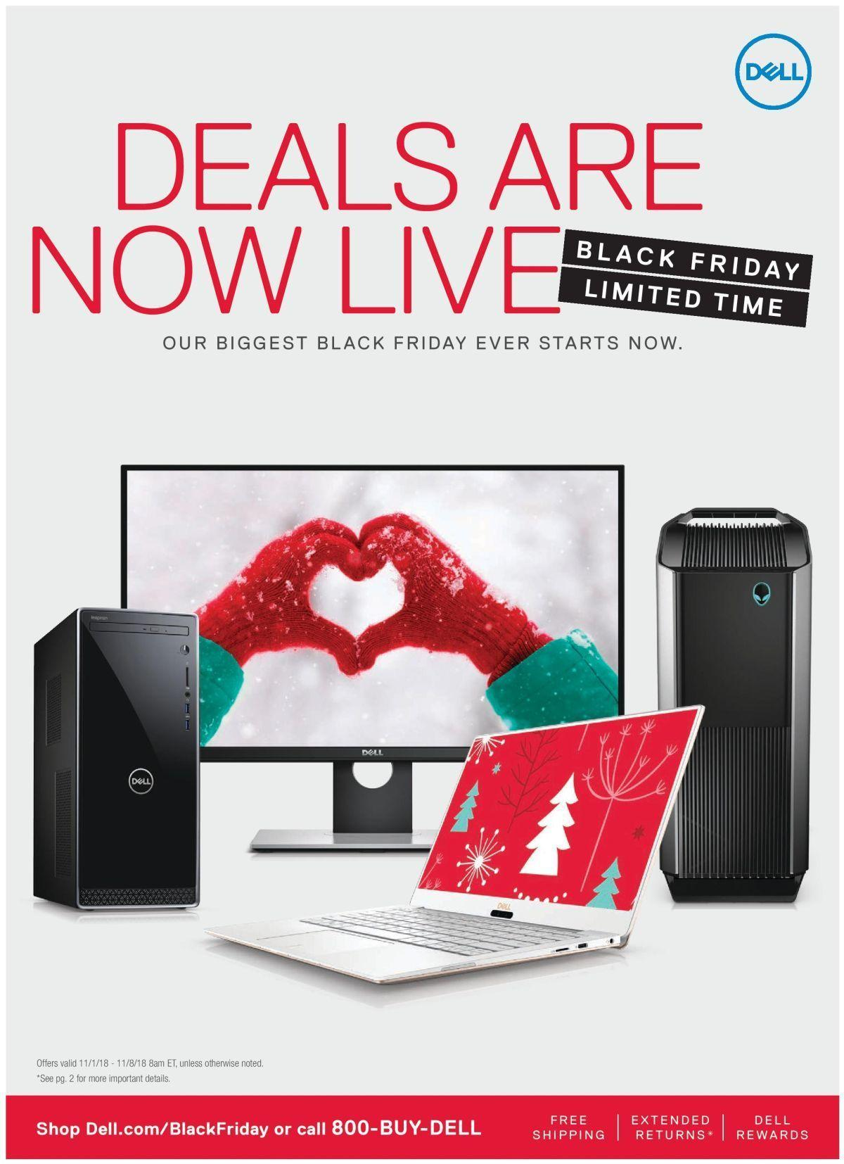 Dell Home Office 2018 Black Friday Ad Page 1