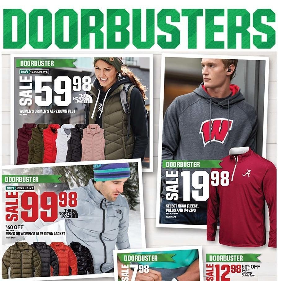 Dicks Sporting Goods 2018 Black Friday Ad Page 1